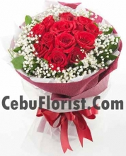 12 Red Rose in Bouquet